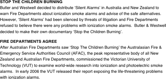 STOP THE CHILDREN BURNING