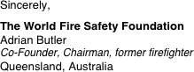 Sincerely, 